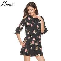 2017 Fashion HIRO Floral Vintage Summer Dress Women Boho Chiffon Short Party Dresses Vestidos De Festa