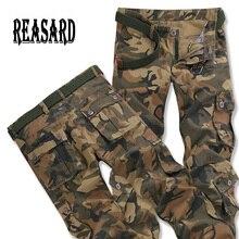 Тактические штаны, мужские камуфляжные штаны для бега, повседневные мужские брюки-карго, хлопковые брюки, много карманов, Военный стиль, Армейский Камуфляж, черные, городские