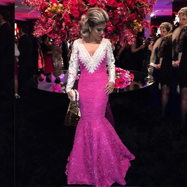 Magenta Mermaid Prom Dresses