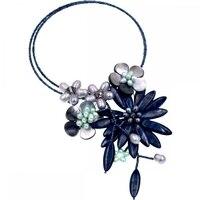 2017 Lady Women Black Sea Shell Black Pearls Hematite Czech Seed Bead Wrap Chokers Necklace Fashion