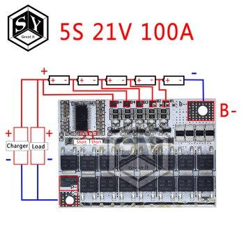 3 s/4S/5S Bms 12v 16.8v 21v 3.7v 100a Li-ion Lmo trójskładnikowa pokrywa baterii litowej płytka li-polimer bilans ładowania