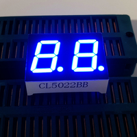 10PCS 2 Bit 0.5 inch Digital Tube LED Display Blue Light 7 Segment Common Anode