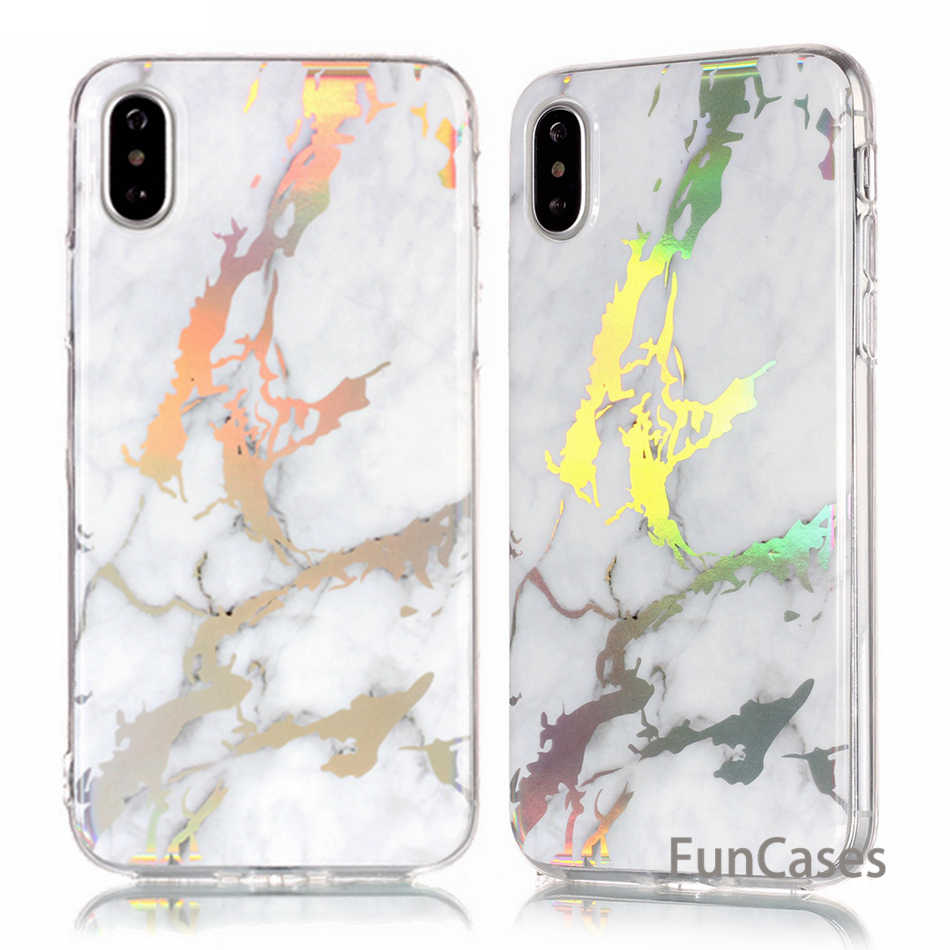Fundas modernas de mármol para iPhone X para Samsung Galaxy S5 S7 S6 Edge S8 Plus Coque IMD TPU cubiertas traseras Capa Fundas B02