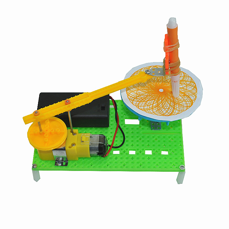 New Automatic Plotter Model For Kids Steam Education Aid Science Teaching Aid Drawer Toy Mapper DIY Toy Kid Gift Free Shipping
