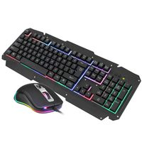 Mechanical Keyboard Mouse Set USB Wired Computer Gaming Keyboard Backlit Mice for Laptop PC Gaming Gamer Player Equipment Kit Ac