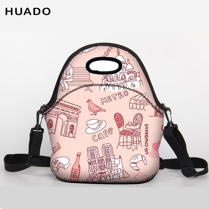 2018 Valentines Day present Lunch Bag Neoprene Large shoulder belt Lunch bags for Women Kids Baby Girls