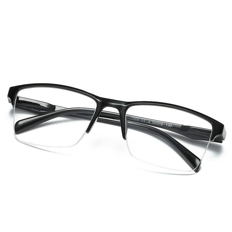 iboode Half Frame Reading Glasses Presbyopic Eyewear Male Female Far sight Glasses Ultra Light Black with strength +25 to +400 1