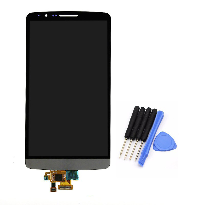 ФОТО High quality Gray For LG G3 D855 D850 LCD Display Touch Screen Digitizer Assembly replacement free shipping!!!