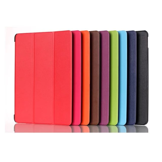 все цены на Slim Tri Fold Magnetic Folio Stand Case PU Leather Cover Case Protective For Samsung Galaxy Tab A 9.7 SM T555C T550 P555C онлайн
