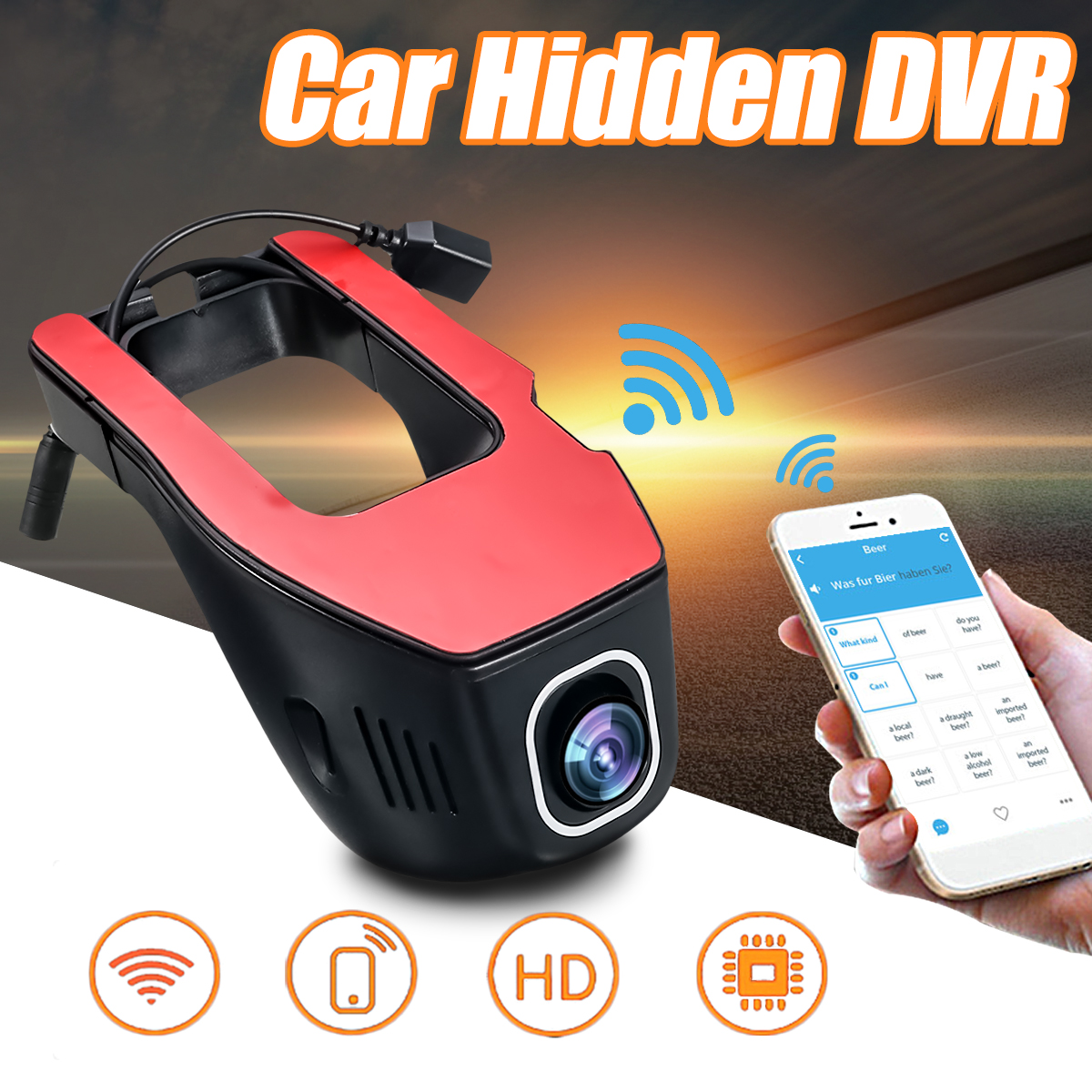 1080P Mini Wifi HD Car H idden DVR Video Recorder Rear Camera Dual Lens Camcorder Night Vision Dash Cam Registrator for App for kia sorento car dvr driving video recorder mini control app wifi camera black box registrator dash cam night vision