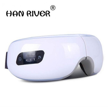 Electric Air pressure Eye massager with .Wireless Vibration Magnetic heating therapy massage device.myopia care glasses