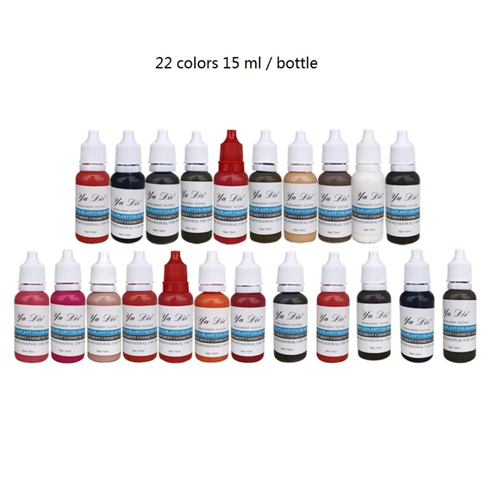 22color 15ml/bottle Permanent Makeup Machine Pigments Set Tattoo Ink 15ml Microblading Pigpigment Eyebrow Lip Eyeliner Make up 22color 15ml/bottle Permanent Makeup Machine Pigments Set Tattoo Ink 15ml Microblading Pigpigment Eyebrow Lip Eyeliner Make up