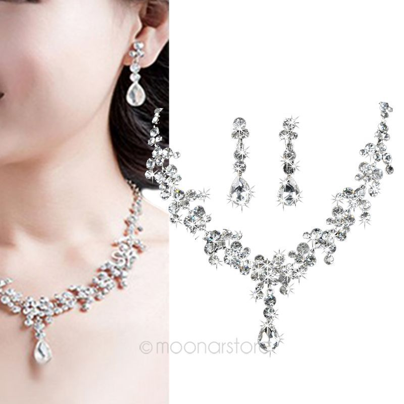 Favolook Wedding Bridal Crystal Jewelry Set For Women