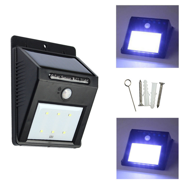 Superior 6 X Led Solar Human Body Infrared Induction + Electric Energy Saving Lamps Outdoor  Garden Lights Solar Wall Lamp