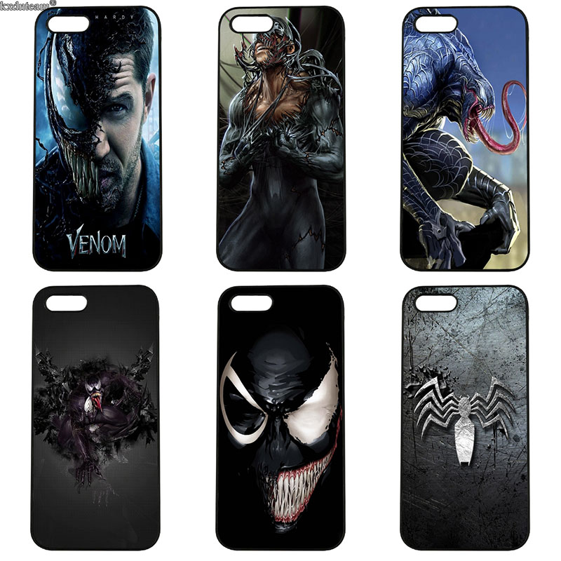 Cell Phone Cases for iphone 8 7 6 6S Plus X 5S 5C 5 SE 4 4S iPod Touch 4 5 6 Shell Spiderman Villain Marvel Venom Hard PC Cover