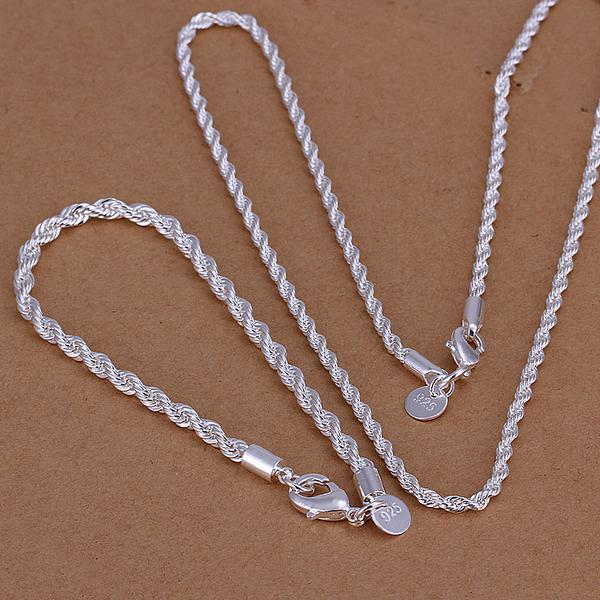 S051 серебрение комплект ювелирных изделий Jewelry ювелирные изделия набор витой Горячая линия Талисманы заводская цена Серебряные ювелирные и... ...