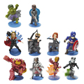 10pcs the avengers hulk buster action figurines set 2016 New Spiderman Iron man Hulk Thor Scene marvel de super heroes series