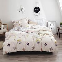 2019 Sailor Moon Cat Cartoon Bed Cover Soft Cotton Bedlinens Twin Queen King Duvet Cover Set Bedspread Pillowcases