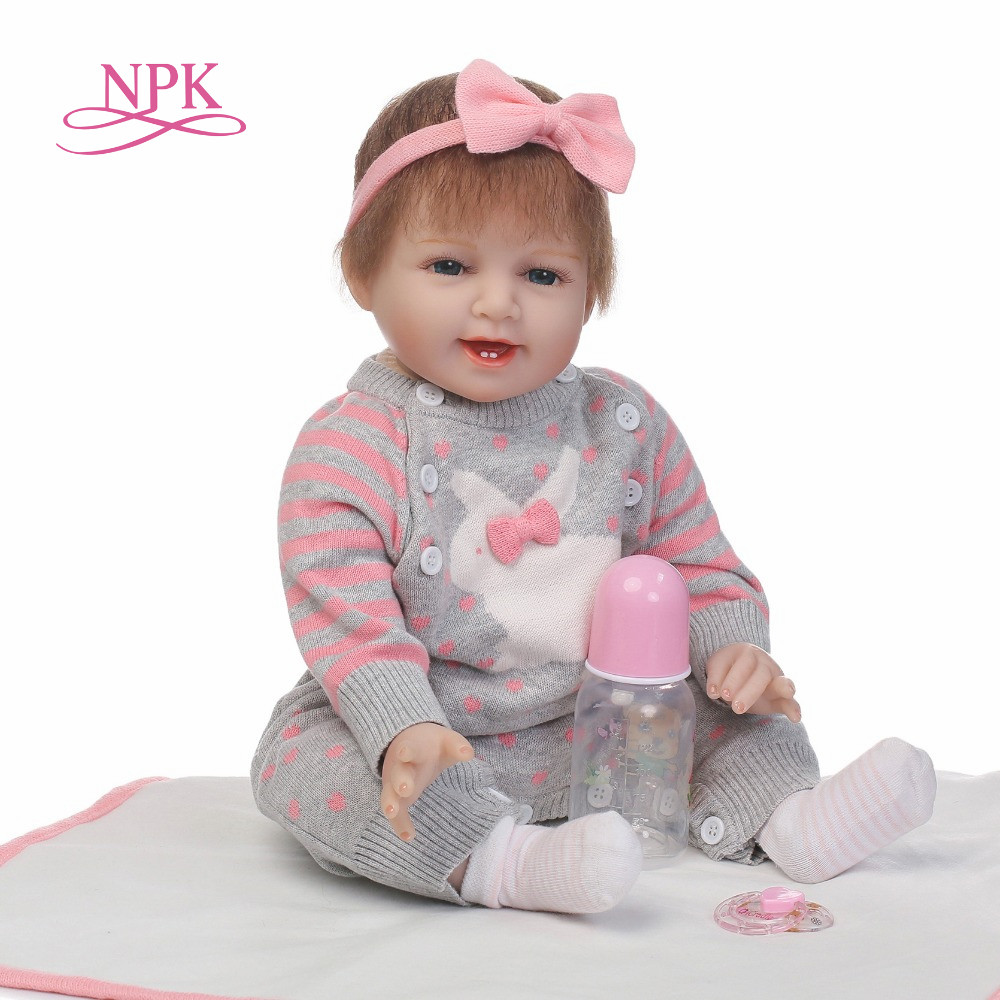 NPK 22Inch Dolls 55cm Soft Silicone Baby Reborn Dolls With Cotton Body Lifelike Doll Reborn Babies Toys for GirlNPK 22Inch Dolls 55cm Soft Silicone Baby Reborn Dolls With Cotton Body Lifelike Doll Reborn Babies Toys for Girl