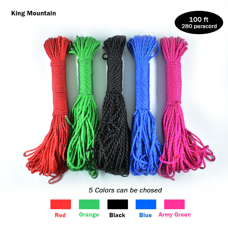 King Mountain Outdoor Bind Rope Rescue Tool 100FT Nöd 280 Paracord 7 - Camping och vandring