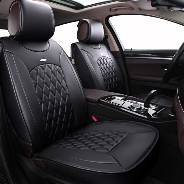 Seat Covers Supports Leather Auto Universal Sport Car Cover Set Fit Most Cars Single
