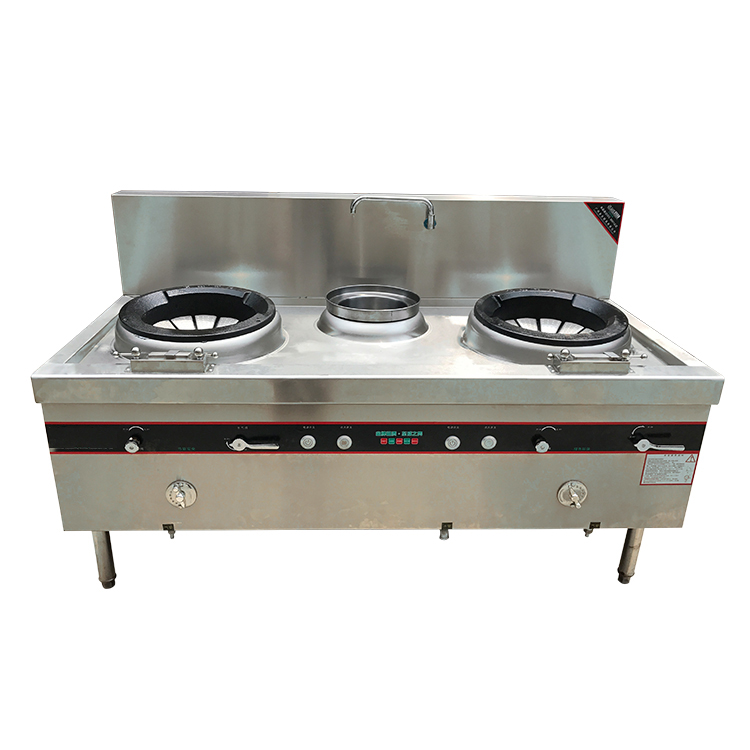 US $595.25 |2 Heads Stove Gas Catering Equipment Chinese Restaurant Heavy  Duty Commercial Kitchen 2 Wok Burner Blast Diffusion Burner-in Electric ...