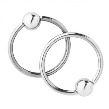 Phenovo 2pc 316L Stainless Steel 16G Ear Piercing Captive Bead Ring Eyebrow Nipple Body Jewelry for Nose Eyebrow Tragus Lip body jewelry