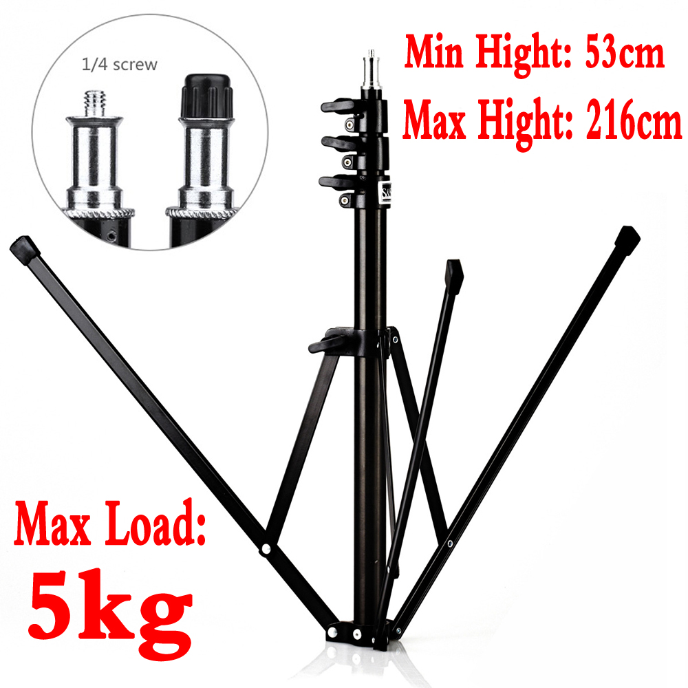 216cm/7ft Portable Foldable Light Stand Tripod for Softbox Flash Lighting Photo Studio Video Fotografie Photography Accessories цена