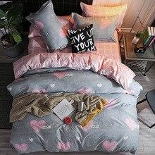 Europe, America,Japan Secret Language Grey  three Sheet Full Size Pillowcase&Duvet Cover Sets 3&4 pcs bedding set luxury