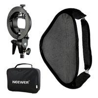 Neewer Photo Studio Multifunctional 24x24/60x60cm Softbox S type Speedlite Flash Bracket Mount+Carrying Case for Photography