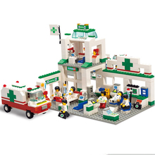5600 Simulation City Emergency Center Small Particles Spelling Building Blocks Model Plastic Assembled Toys