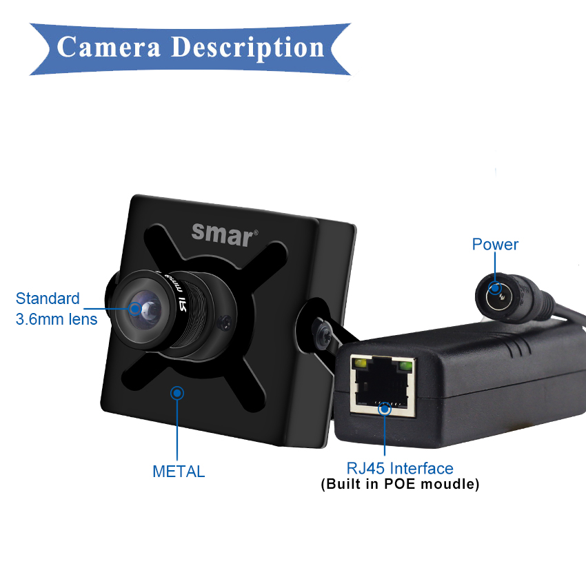 Image 4 - 풀 hd 720 p 960 p 1080 p 25fps 미니 ip 카메라 poe 보안 hd cctv 네트워크 카메라 3.6mm 지원 전화 안드로이드보기 p2pip cameramini ip cameramini ip -
