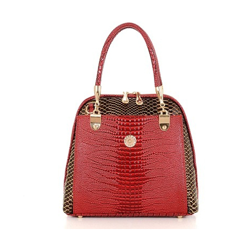 ФОТО New 2017 Women Shell  Handbag Genuine Leather Bag Lady OL  Alligator Shoulder Bag   Handbag