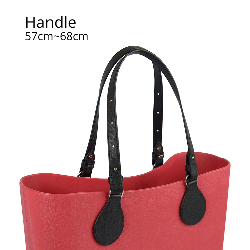 Bidirectional Adjustable Length Flat Leather Belt Handle With Drops For Obag Basket Bucket City Chic Women Handbag O Bag
