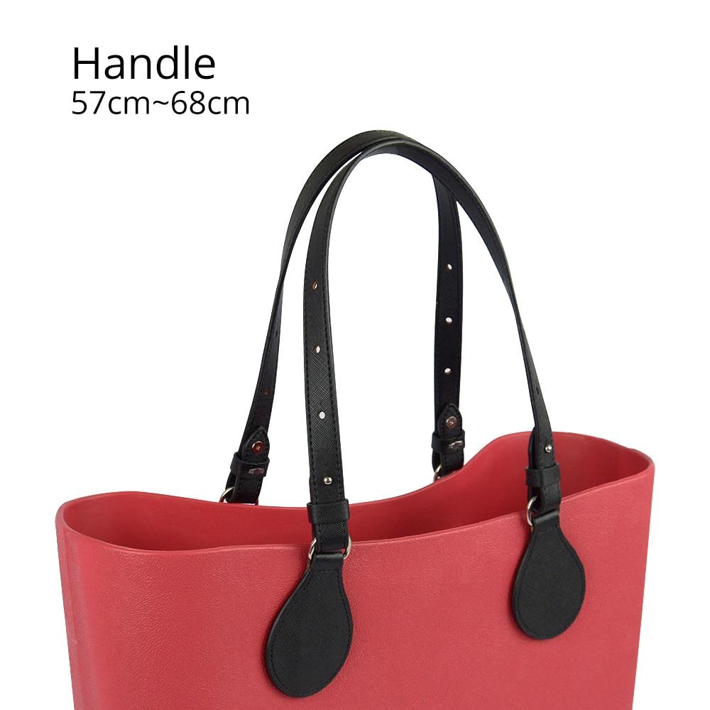 Bidirectional Adjustable Length Flat Leather Belt Handle With Drops For Obag Basket Bucket City Chic Women Handbag O Bag