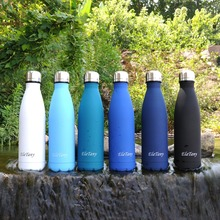 ElaTany 500ML Thermos Bottle Sports Vacuum Flask Outdoor Water Bottles Stainless Steel Insulated Travel Bicycle Garrafa Termica