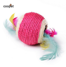 COOPET Pet Funny Cat Chew Toys Catch-resistant Mouse Sisal Cat Pet Scratch Resistant Bite Board Training Cats Products For Pets