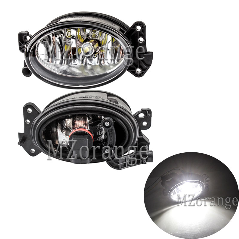 MZORANGE Front Fog Light For <font><b>Mercedes</b></font> Benz W204 C230 <font><b>C300</b></font> C350 W211 E320 E350 W164 06-09Fog Lamp LED Bulb A1698201556 1698201656 image