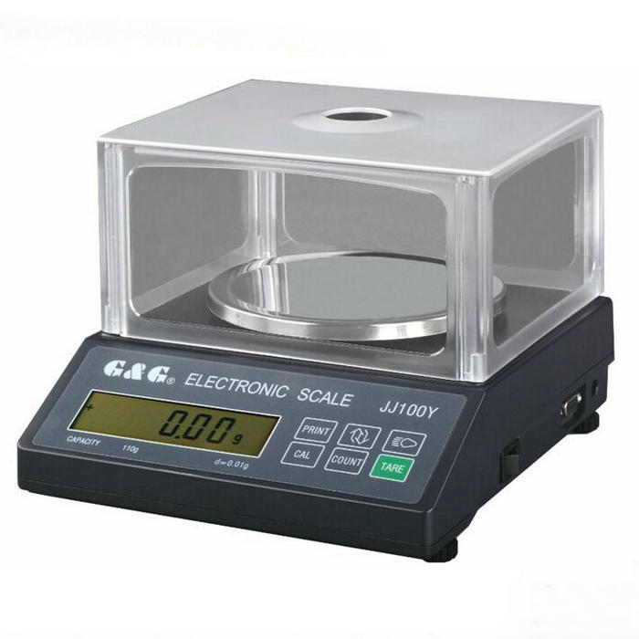 JJ series 200g 0.01g electronic scale, round scale panel analytical balance with windshield for Laboratory цены