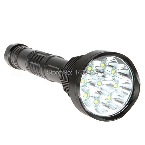 11000 Lumens Super Bright Waterproof 9 x XML T6 LED Flashlight Torch 5 Modes 11000lm Aluminum LED Flash Light 10000 lumens super bright led flashlight torch aluminum waterproof 7 x cree xml t6 led flash light