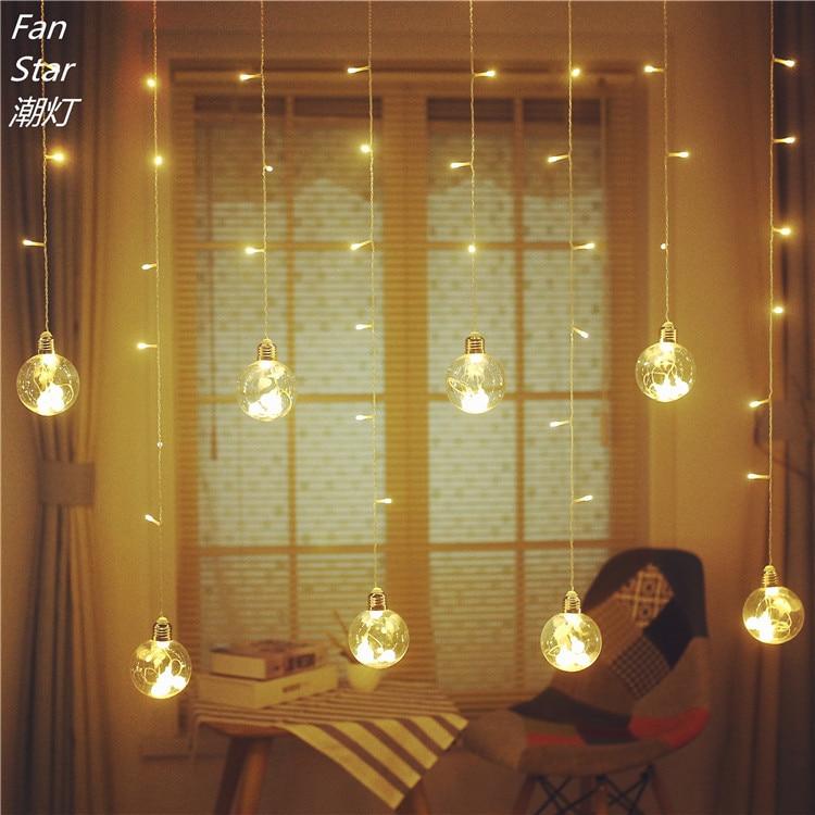 led background bedroom christmas decoration bulb camera lights glass pendan lamp layout creative star lighting