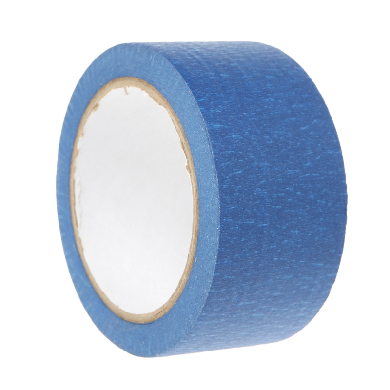 1 X 50mm*30m Heat Paper Masking Tape Blue High Temperature Paper Masking Tape 50mm*30m For 3D Printer Parts Hot Bed New 205mm width blue masking tape high temperature resistance masking tape for 3d printer makerbot thickness 0 13mm