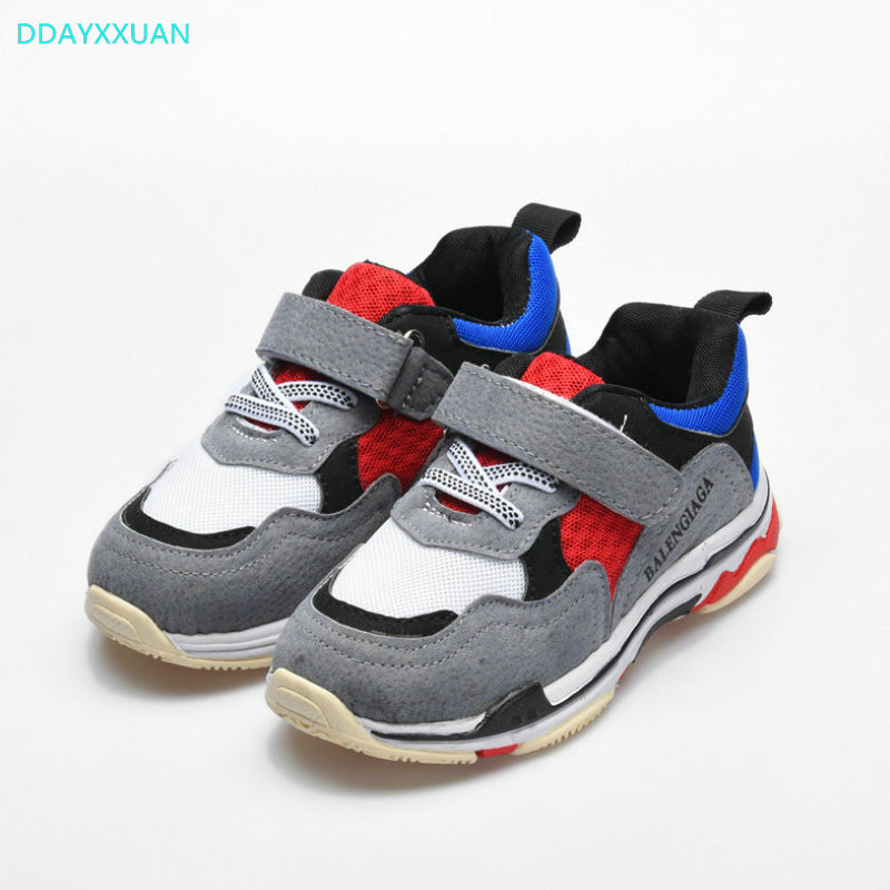 Kids Sports Shoes 2018 New fashion Net Breathable Sneakers Boys Girls shoes casual Brand High-quality children Sneaker EU 27~37