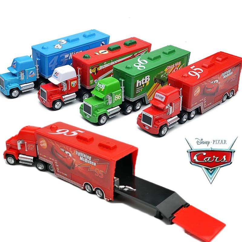 Disney Pixar Cars 2 3 métal moulé sous pression voitures Disney #95 McQueen Mack camion le roi poussin Hick Sally Carrera jouets pour enfants garçons