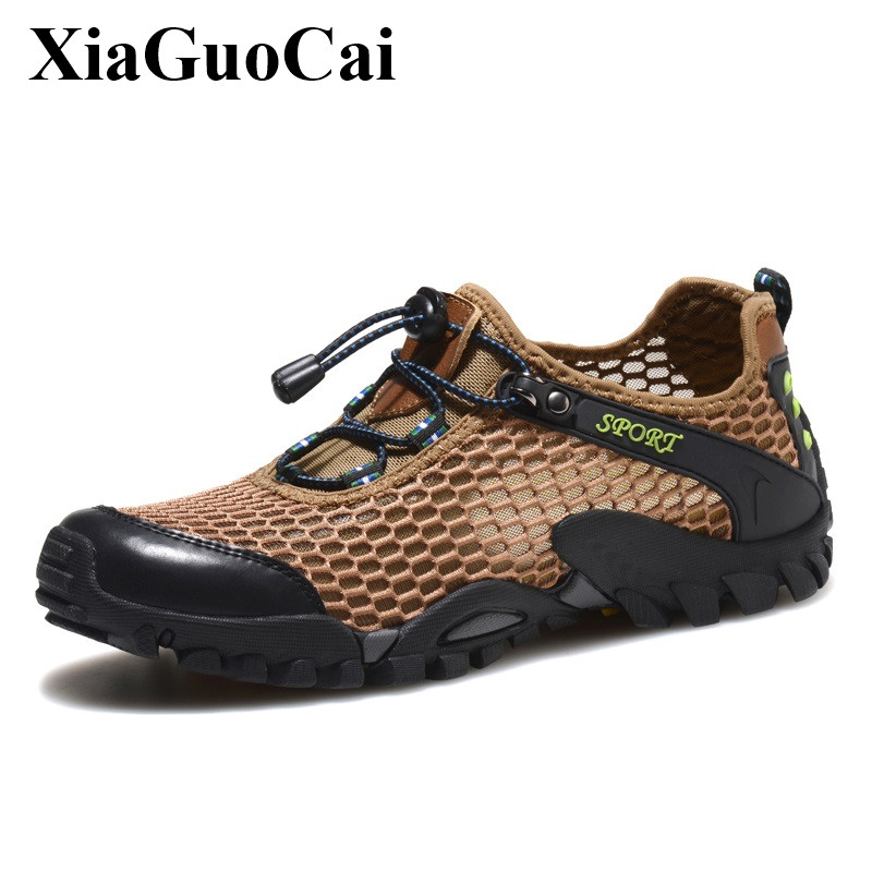 Large Size Man Shoes Sneakers Outdoor Summer Breathable Mesh Anti skid Outsole Clambing Footwear Wear resistant Casual Shoes