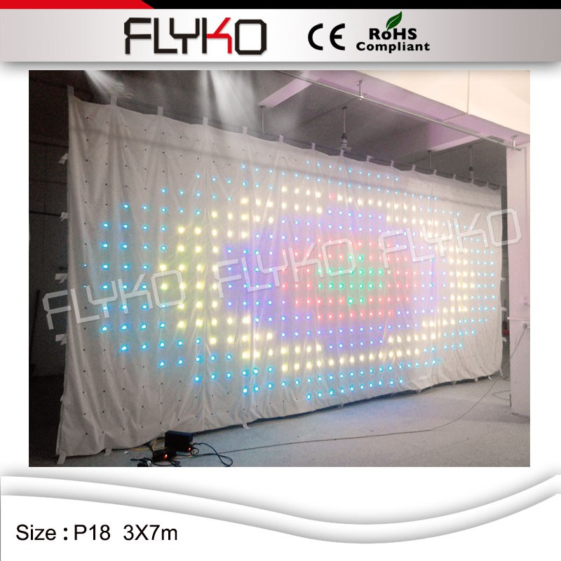 Curtain Blackout Cloth Rgb 3 In 1 Leds