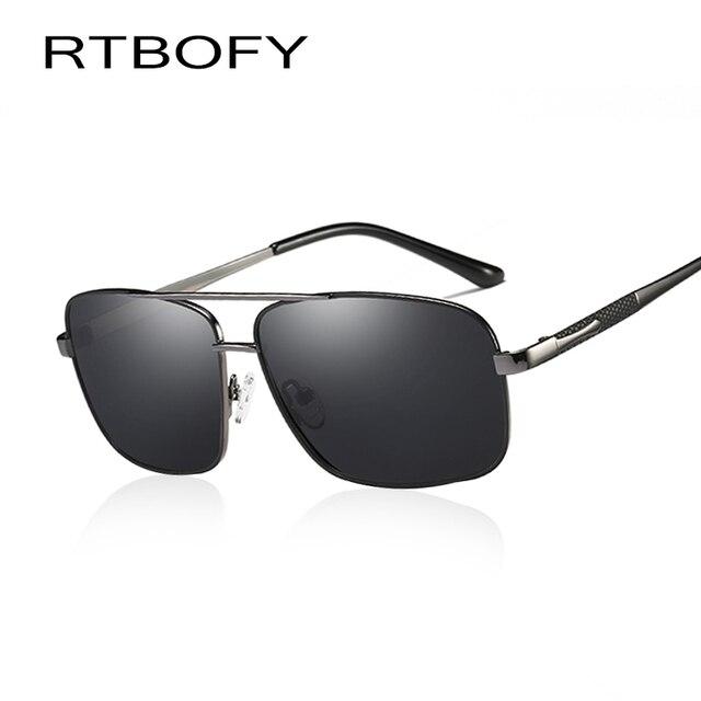 RTBOFY Cool Design Da Marca Do Vintage óculos de Sol Masculino Óculos  Polarizados Óculos De Sol f08b078f84