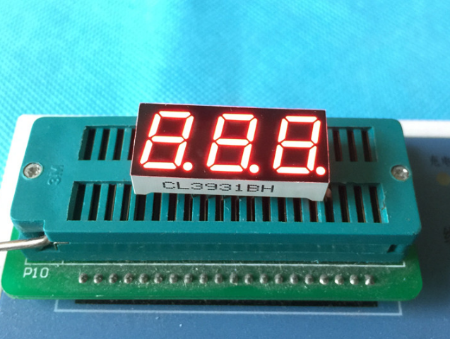 10PCS New And Original 3 Bit 0.39 Inch Digital Tube LED Display Red  Light 7 Segment Common Cathode/Anode