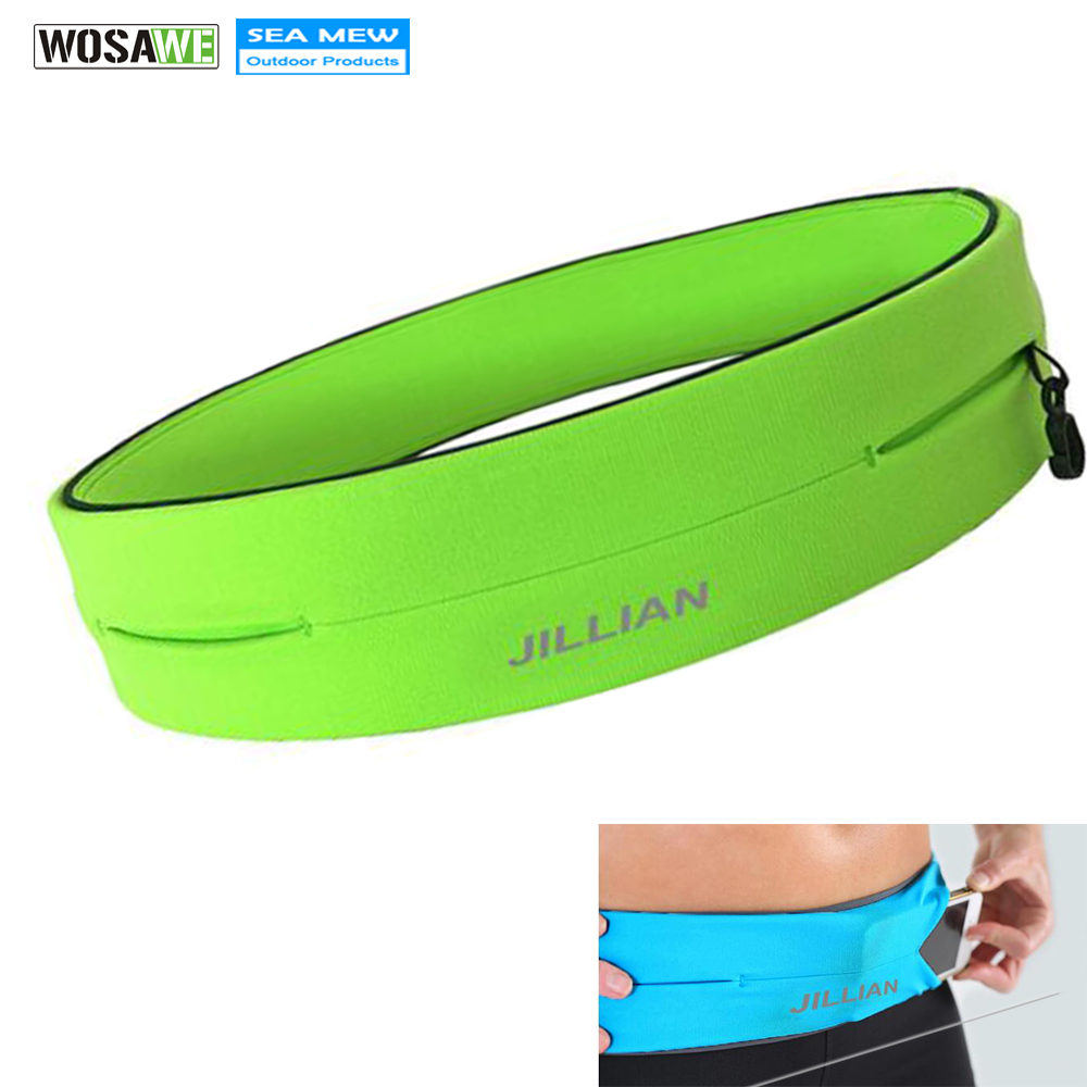 WOSAWE Outdoor Running Waist Bag Mobile Phone Holder Jogging Belt Belly Bag Women Gym Fitness Bag Lady Sport Accessories