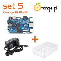 Orange Pi Plus 2 SET5: Orange Pi Plus 2+ Power Supply +Transparent Acrylic  Case  Support Ubuntu, Debian Beyond Raspberry